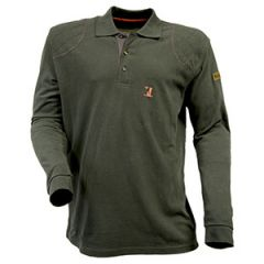 Old Style Percussion Long-Sleeve Polo Shirt - Olive