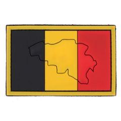 PVC Belgium Flag Patch