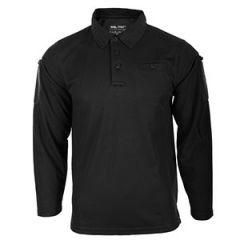 Quickdry Long-Sleeve Polo Shirt - Black