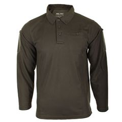 Quickdry Long-Sleeve Polo Shirt - Olive Drab
