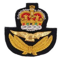 RAF Peak Cap Badge - Queens Crown Thumbnail