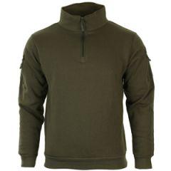 Ranger Green Sweatshirt with Zipper