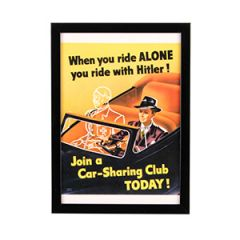 WW2 American Join a Car-Sharing Club Today Framed Print