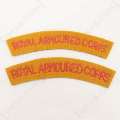 Royal Armoured Corps Shoulder Titles - Imperfect  Front