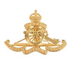British Royal Artillery Cadet Corps Cap Badge
