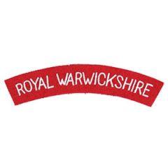 Royal Warwickshire Shoulder Titles Thumbnail