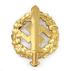 WW2 SA Sports Badge in Gold Thumbnail