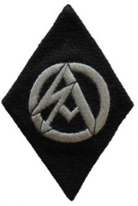 Former SA members Serving with SS Death Head Units Sleeve Diamond
