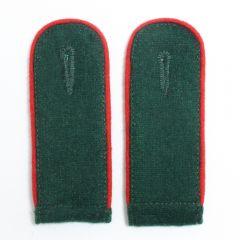 Artillery EM Shoulder Boards Bottle Green (Red piped)