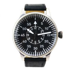 Black Vintage Pilot Watch - Watch Face
