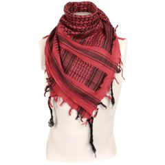 Shemagh Headscarf - Red and Black