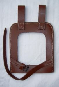 Straight Shovel Cover with Open Back (brown)