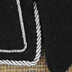 Silver Collar Braid - Thick