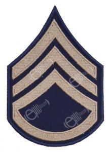 Dark blue Staff Sergeant Rank Badge with silver detail