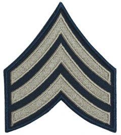 Dark blue Sergeant Rank Badge with silver detail