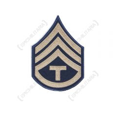 Dark blue Technician/3rd Grade Rank Badge with silver detail