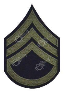 Dark blue Staff Sergeant Stripes with Olive detail