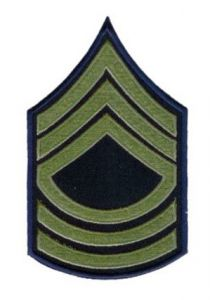 Black Master Sergeant insignia with Olive Stripes