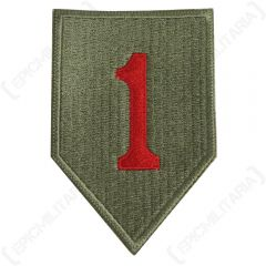 Green US 1st Infantry Division Type 1 with red number 1