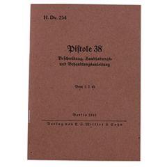 German P38 Walther Pistol Manual