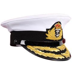 Royal Navy Admiral Cap - White