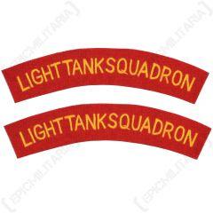 Light Tank Squadron Shoulder Titles