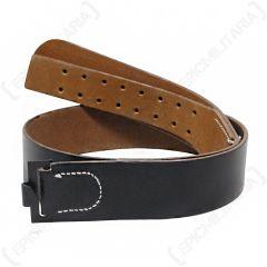 German EM Heer/Soldier Black Leather Belt