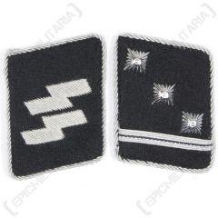 WW2 German Waffen-SS Obersturmfuhrer Collar Tabs