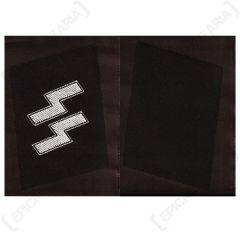 WW2 German SS-EM & NCO BEVO Collar Tabs