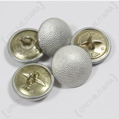 German Tunic Buttons - Silver Pebbled