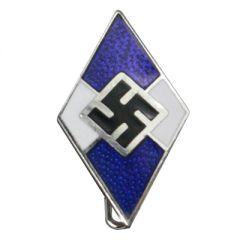 Hitler Youth Diamond pin Badge - Blue Marine Version