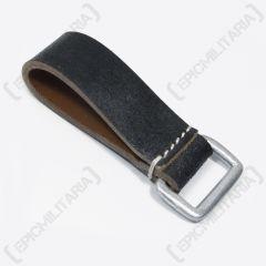 Black Leather belt loop - Square D-Ring