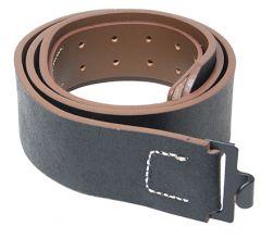 WW2 German Enlisted Mans Black Leather Belt
