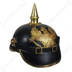 WW1 German/Prussian Leather Pickelhaube