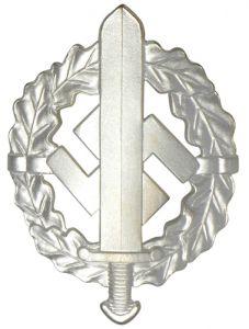 WW2 SA Sports Badge in Silver