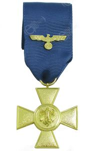 German Heer 25 Year Service Medal with Ribbon
