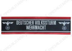 WW2 German Deutscher Volkssturm Wehrmacht BEVO Cuff Title