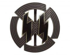 WW2 German SS Germanic Proficiency Runes Badge in Bronze