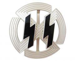 WW2 German SS Germanic Proficiency Runes Badge in Silver