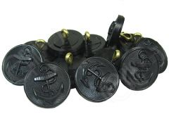 Kriegsmarine Tunic Buttons - Black Nylon from above