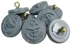 Kriegsmarine Tunic Buttons - Grey Nylon