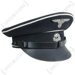 Black SS Allgemeine EM/NCO Visor Cap