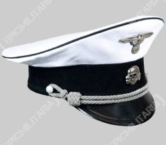 German Allgemeine Officer Summer Visor Cap - White