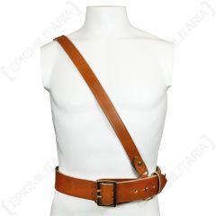 British Sam Browne Leather Belt