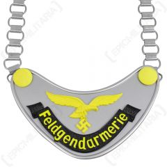 WW2 German Luftwaffe Feldgendarmerie Gorget