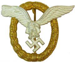 Metal Luftwaffe Pilot Observer Badge