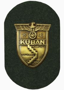 WW2 German Kuban Shield