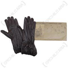 WW2 German Luftwaffe FJ Brown Leather Gloves