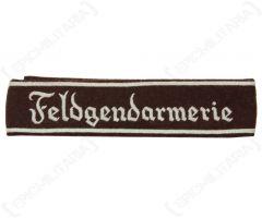 WW2 German Feldgendarmerie EM Cuff Title
