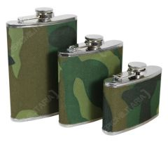 Stainless Steel Hip Flask - Woodland Camo